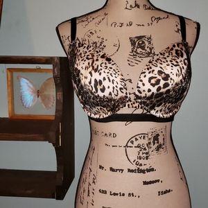 New Victoria's Secret Cheetah Lace Bra 36DD
